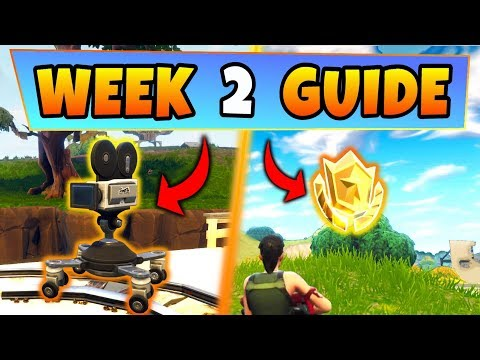 Fortnite WEEK 2 CHALLENGES GUIDE! – FILM CAMERA Locations, Treasure Map (Battle Royale Season 4)