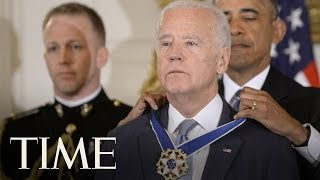 president obama gives joe biden the presidential medal of freedom   time