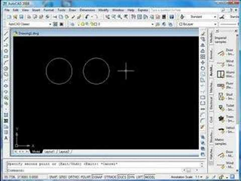 autocad tutorial copy trim command youtube