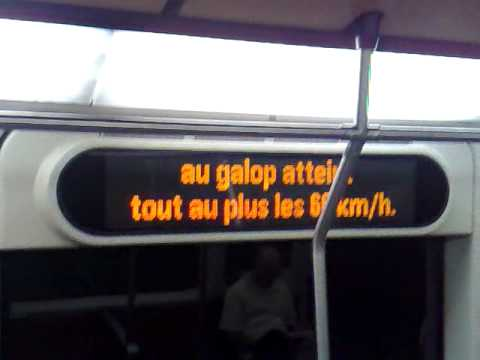 Passenger information inside a metro of Montreal
