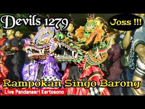 DEVIL'S Crew Rampokan Singo Barong Unik Berbentuk Naga Jaranan Putro Pujonggo Live Kertosono