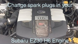change the spark plugs in your subaru ez30 h6 engine the easy way