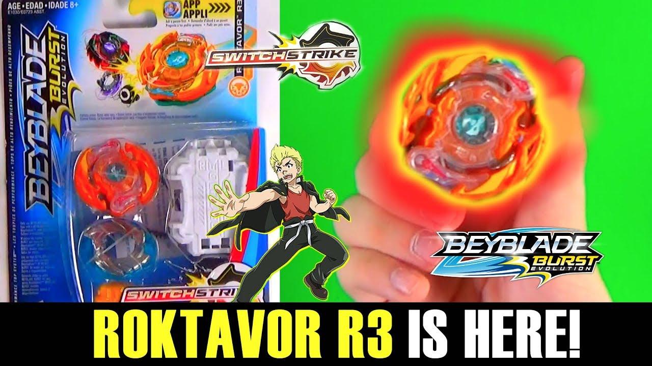 Roktavor R3 Is Here Beyblade Burst Evolution Switchstrike Unboxing