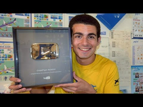 100.000 Subscribers SILVER PLAY BUTTON Unboxing! (& Announcements) - GreatFlyer Aviation