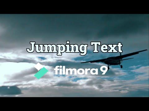 Text Jump Effect - Filmora9 Tutorial