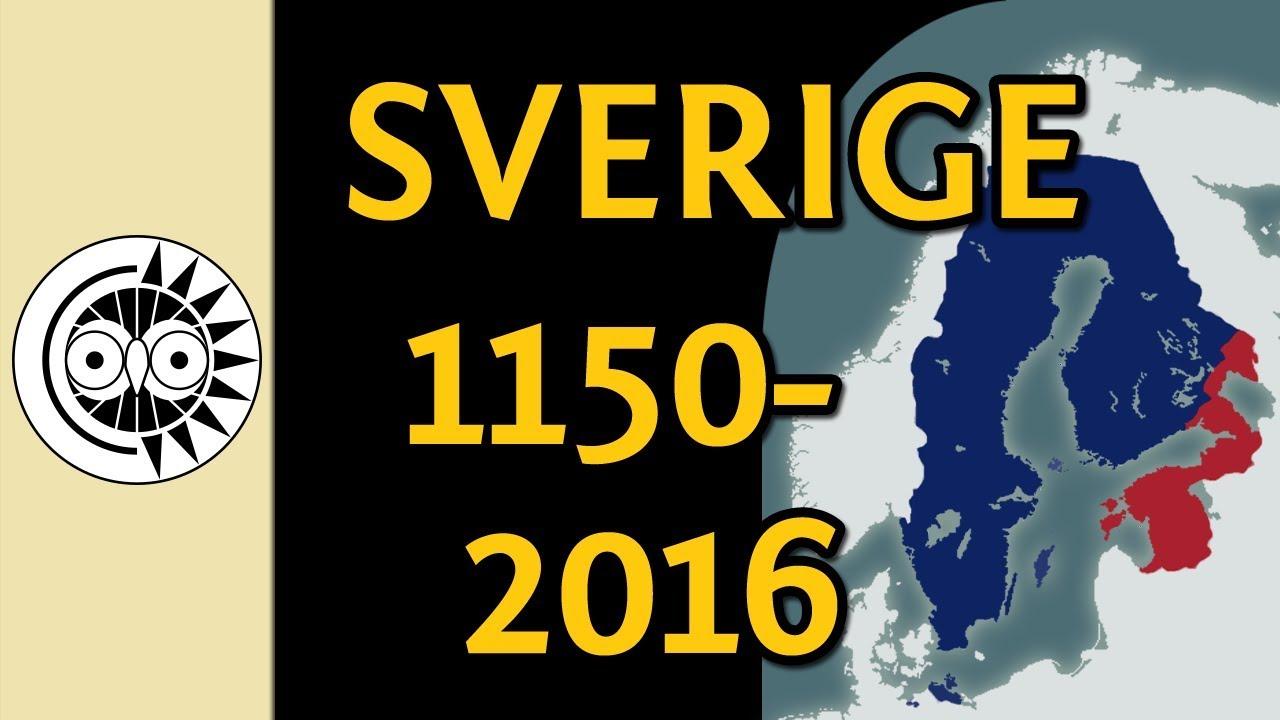 Sveriges Granser Fran 1150 Till Idag Youtube