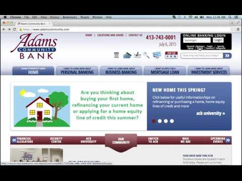 Adams Community Bank Online Banking Login Instructions