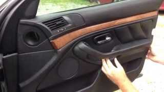 DIY BMW door panel removal the easiest way E38 E39