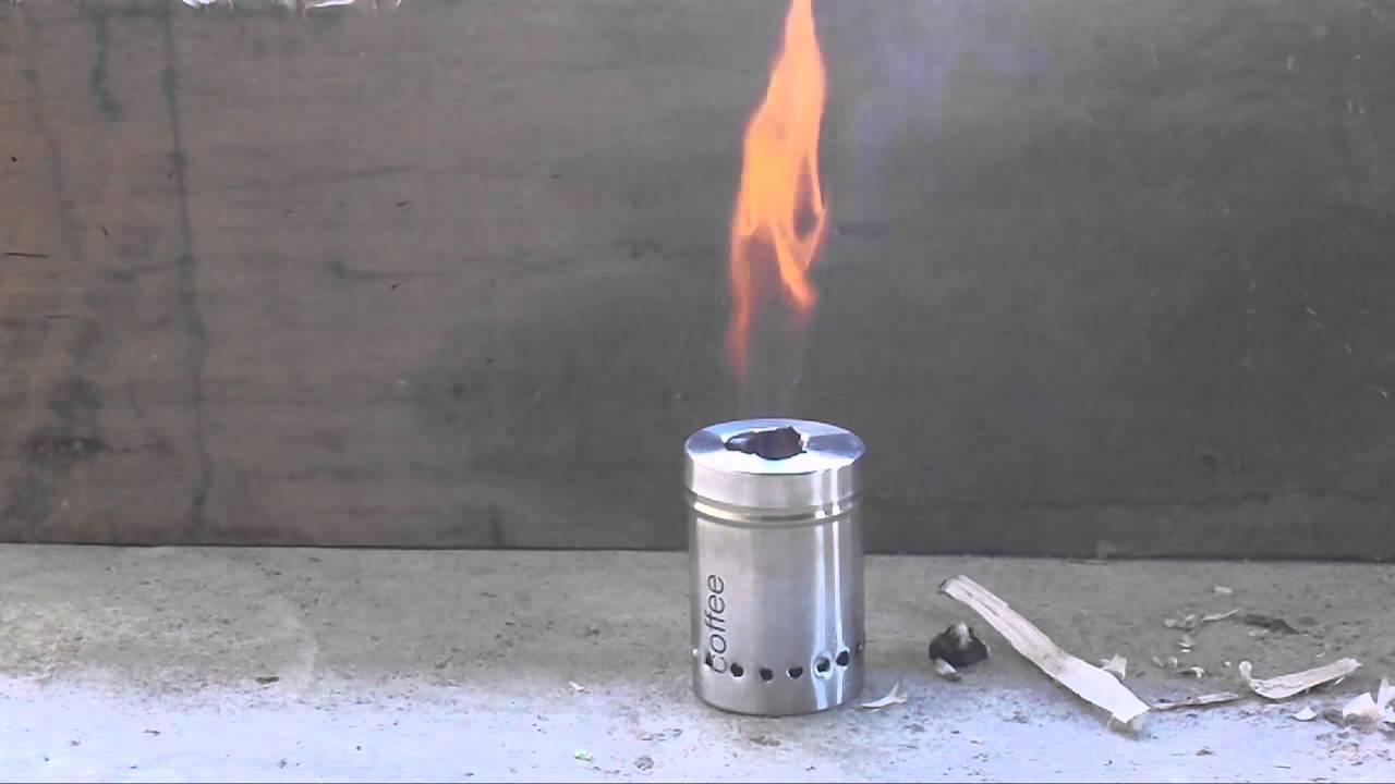 Test Burn Of Wood Gas Stove Improvised World Stove Design By Kesate Iyasu