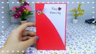 Làm thiệp 8/3 đơn giản tặng mẹ và chị em gái / DIY card for mom, for girlfriend / Ami Channel