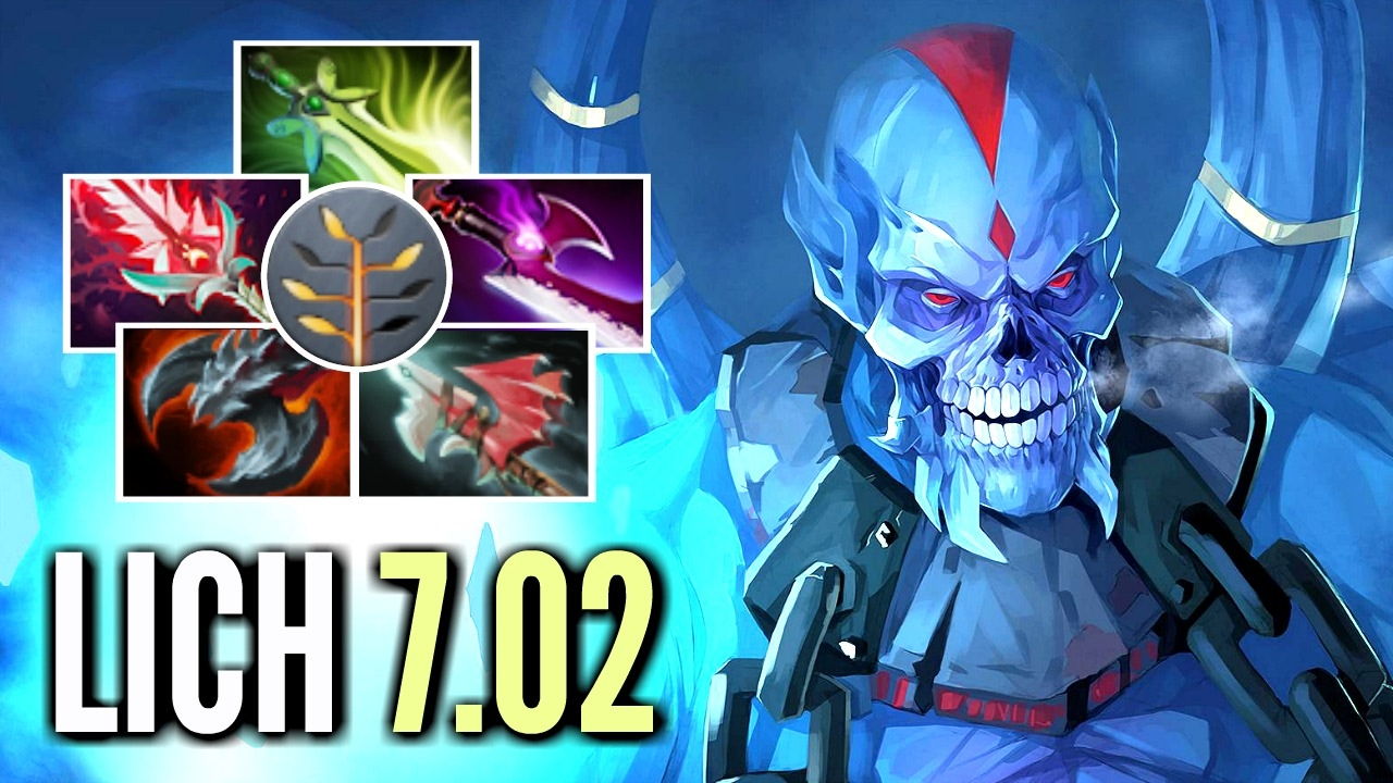 brutal lich carry build 500 damage with talent tree by dendi 7 02