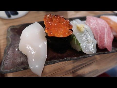 Eating Sushi at Endo Sushi in Osaka Central Fish Market. Osaka [Vlog 28]