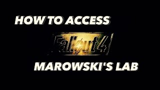 "Fallout 4: ""How to access MAROWSKI'S Chems lab"" - ""Diamond City Blues Quest"" MAROWSKI'S LAB"