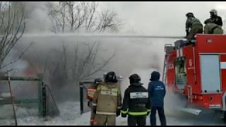 Пожар по ул. Семена Данилова 12.01.2018