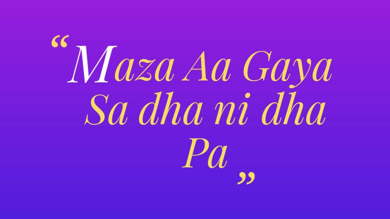 Mere Rashke Qamar Sargam in Hindi (Harmonium Notes)