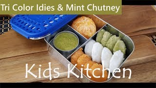 Kids Lunch Box Ideas / Tricolor Mini Idly / Indian Lunch Box Ideas / Healthy Kids Lunch Box Ideas