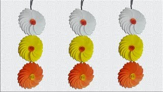Paper Flower Wall Hanging at home - Wall Decoration ideas - DIY Hanging Flower by Mr.Paper crafts