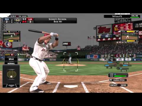 MLB 14 THE SHOW MARINERS @ ANGELS