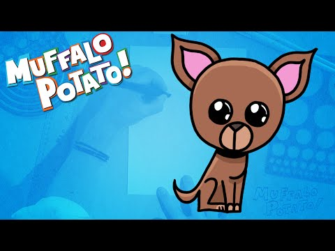 How To Draw Chihuahua Using Letters And Numbers With Alo Potato