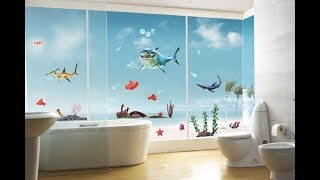 Top 40 Bathroom Paint Design Color Ideas Pictures | DIY Peeling Cracking Bubbling Waterproof 2018