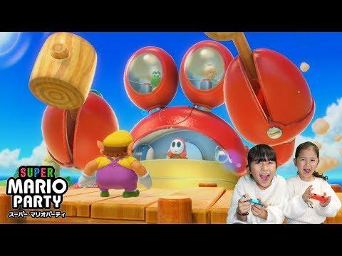 家族でワイワイ♪ミニゲームで対決しまくるぞ♪前編♡スーパーマリオパーティ♡ゲーム実況・ニンテンドースイッチhimawari-CH