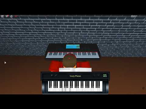 Somebody I Used to Know - Making Mirrors by: Gotye Ft. Kimbra on a ROBLOX piano. [Revamped]