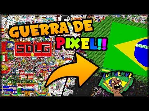 A GRANDE GUERRA DE PIXELS!!! - Pixel Canvas.io