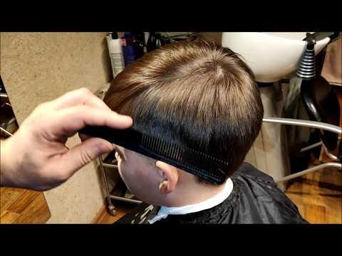 Как подстричь мальчика ножницами самостоятельно видео уроки