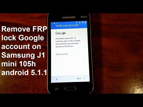 how to remove google account samsung galaxy j1 mini j105h j105f android 5.1.1 new and fastest method