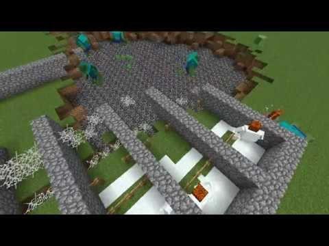 minecraft  ศึกต่อสู้ พืช ปะทะ ซอมบี้