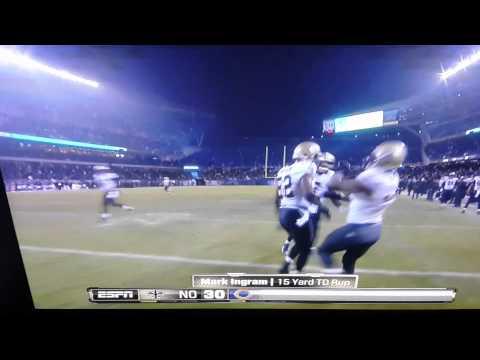 Mark Ingram 15 yard touchdown vs bears