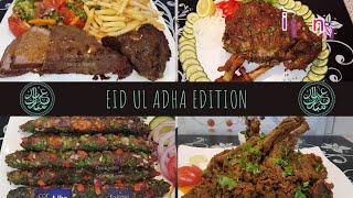 Bakra Eid Special Recipes - Spicy Mutton Leg Roast - Beef Roast - Keema Chanp - Rim Jhim Seekh Kabab
