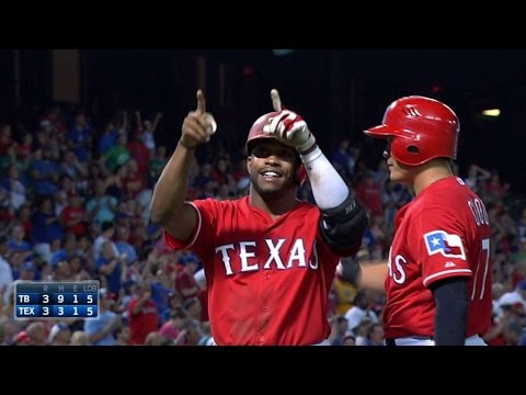 TB@TEX: DeShields hits first career homer to tie game