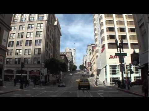 San Francisco Cable Car - Entire Trip. Market Street to Fisherman's Wharf