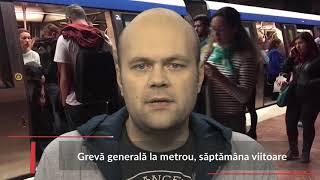 Stiri Mediafax 15 Noiembrie - Grevă generală la metrou