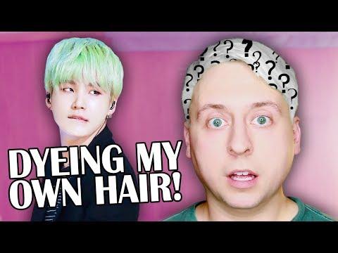 DYEING MY HAIR MINT GREEN