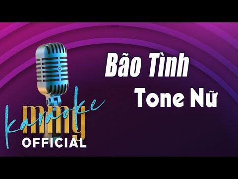Bão Tình (Karaoke Tone Nữ) | Hát với MMG Band