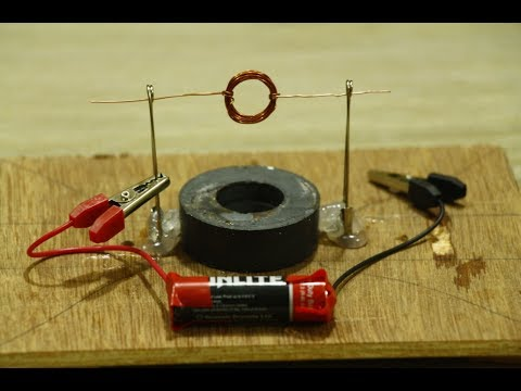 Make spinning homopolar motor with magnet at home for Homopolar motor science project