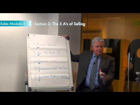 Sales training module 4, section 3: The 5 A's of selling