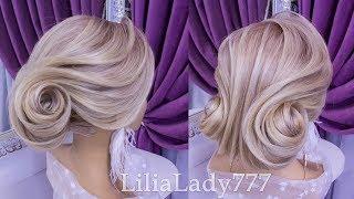 Свадебная,Вечерняя Прическа.Красивая Прическа.Beautiful Wedding Hairstyle