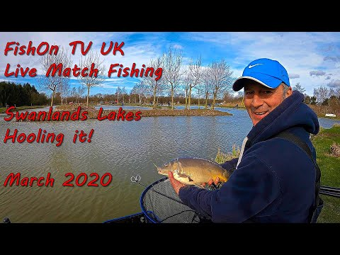 FishOn TV UK : LIVE MATCH FISHING : Swanlands Lake, Chestnut Lake.  Hooling It!  March 2020