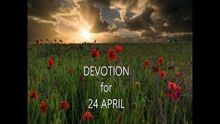 ANZAC Day Devotion for 24th April