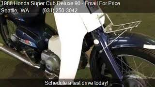 1988 Honda Super Cub Deluxe 90 Deluxe 90 for sale in Seattle