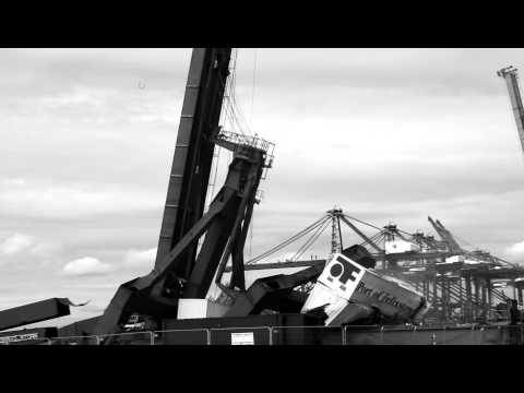 The O'Brien Group Specialist Container Crane Demolition, UK Port Authority
