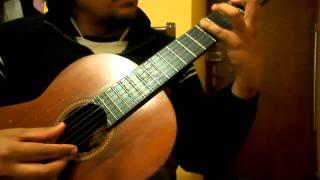 Proclama Gloria al Señor Intro en guitarra - transcripción