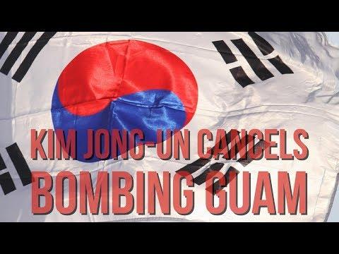 Kim Jong un & North Korea Cancels Bombing Guam; Delays World War 3