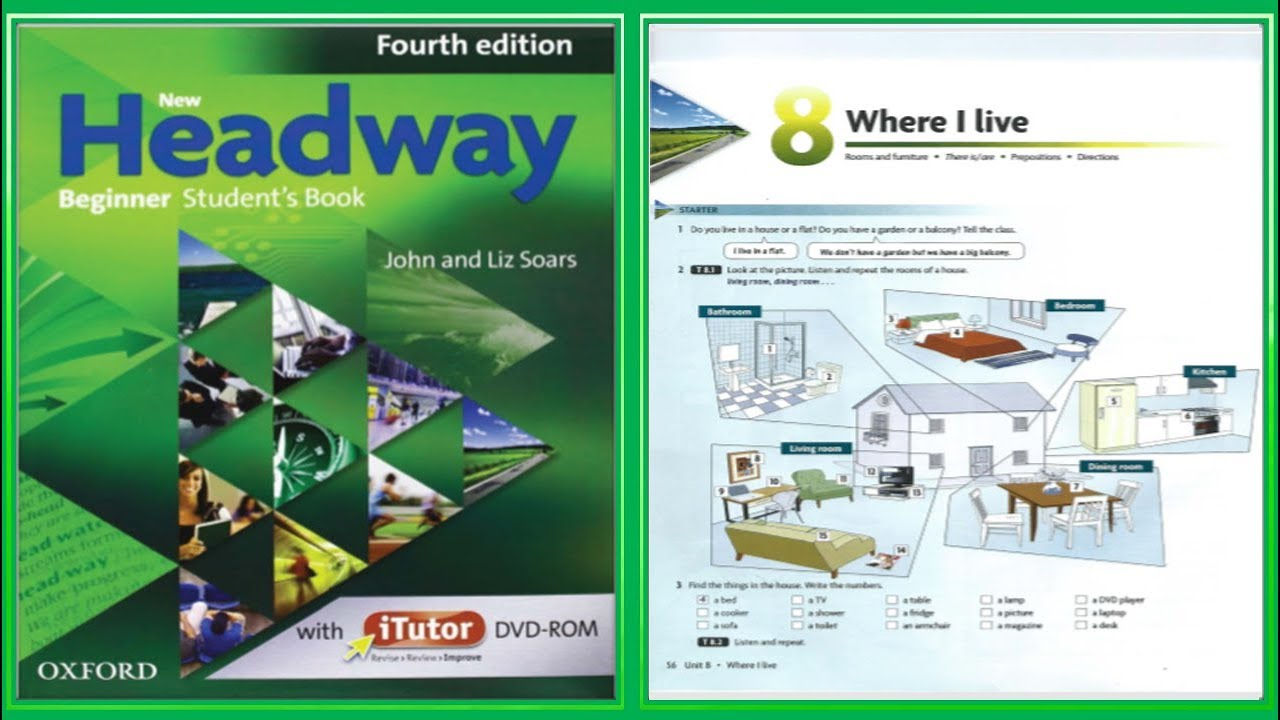 Update New Headway Beginner Student S Book 4th Unit 08 Where I Live Youtube