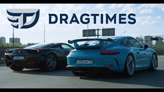Фото с обложки Dt Test Drive - Porsche 911 Gt3 И Ferrari 458 Italia. Атмосферные 9000 Об/Мин