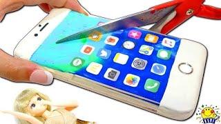 【iPhoneを...!】リカちゃんとリアルなスマホ携帯とiPhoneケースを粘土で手作りDIY★ねんどのおもちゃで遊ぼう♩ How to make play doh★ thumbnail