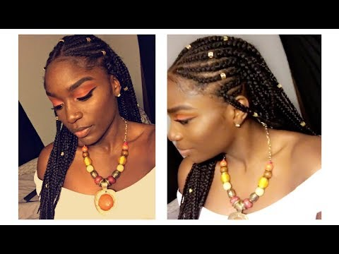 Braids And Beads Cornrow Tutorial Youtube